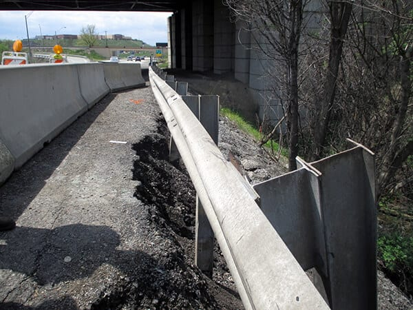 GCS<sup>®</sup> Wall Installed With Micropile Foundation
