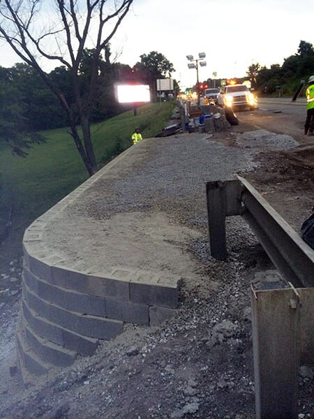 GCS® Wall Installed With Micropile Foundation