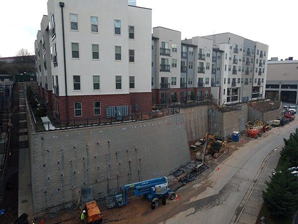 Failing Retaining Wall Stabilization