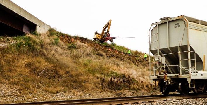 Launched SuperNail™ for Landslide Repair
