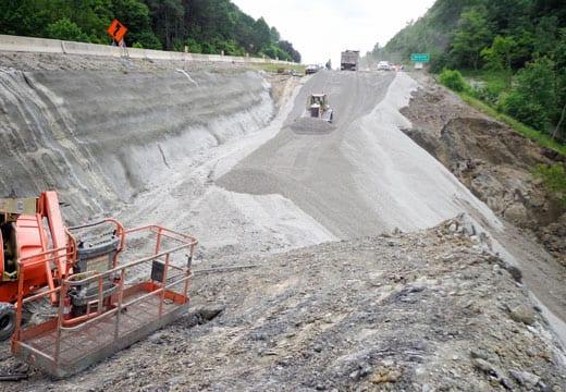 I-75 Emergency Landslide Repair, Landslide Remediation