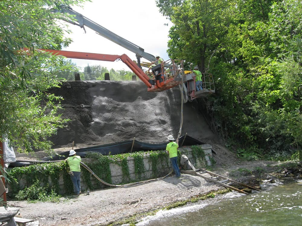 Lakeshore Bluff Repair, Riparian/Stream Bank Stabilization
