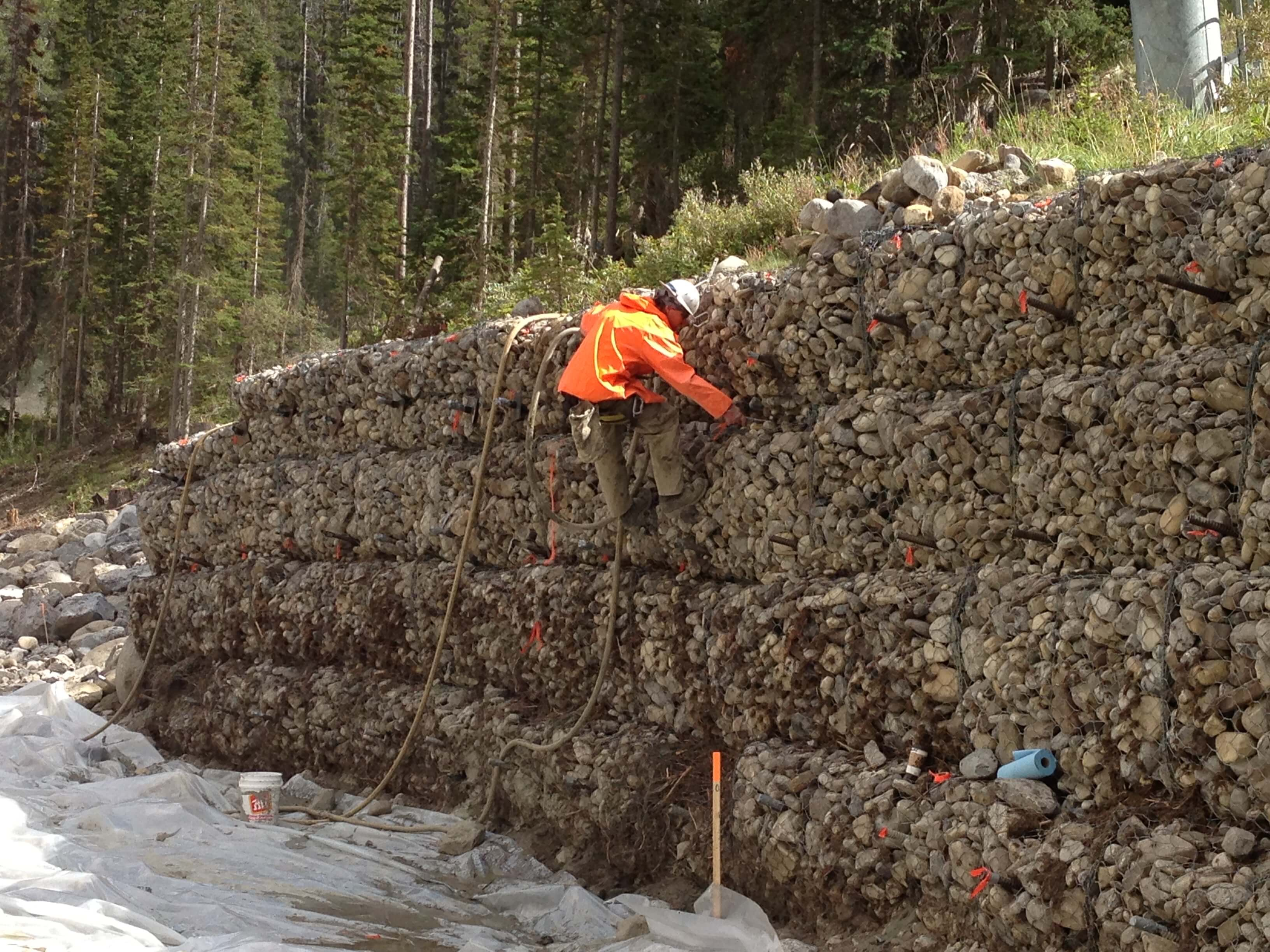 Gabion Wall Repair, MSE, Gabion, Pile, & Historic Rock Wall Repair