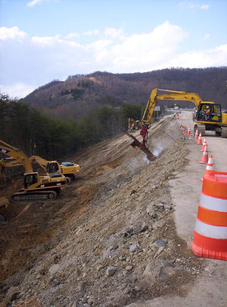 Roadside Excavation Shoring