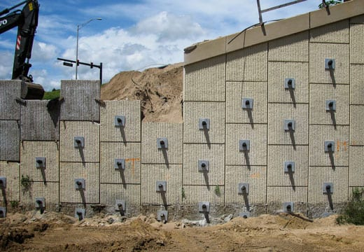 MSE Bridge Abutment Reinforcement, Bridge Abutments & Retaining Walls
