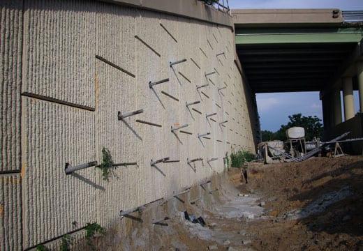 MSE Bridge Abutment Reinforcement