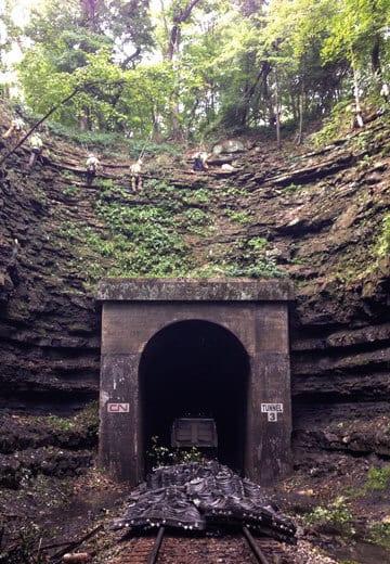 Railroad Tunnel Portal Rock Scaling