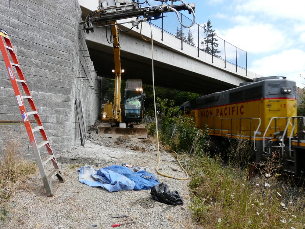 Railway Bridge Abutment Repair