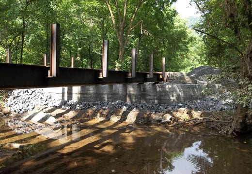 Limited Access Bridge Replacement, Bridge Abutments & Retaining Walls