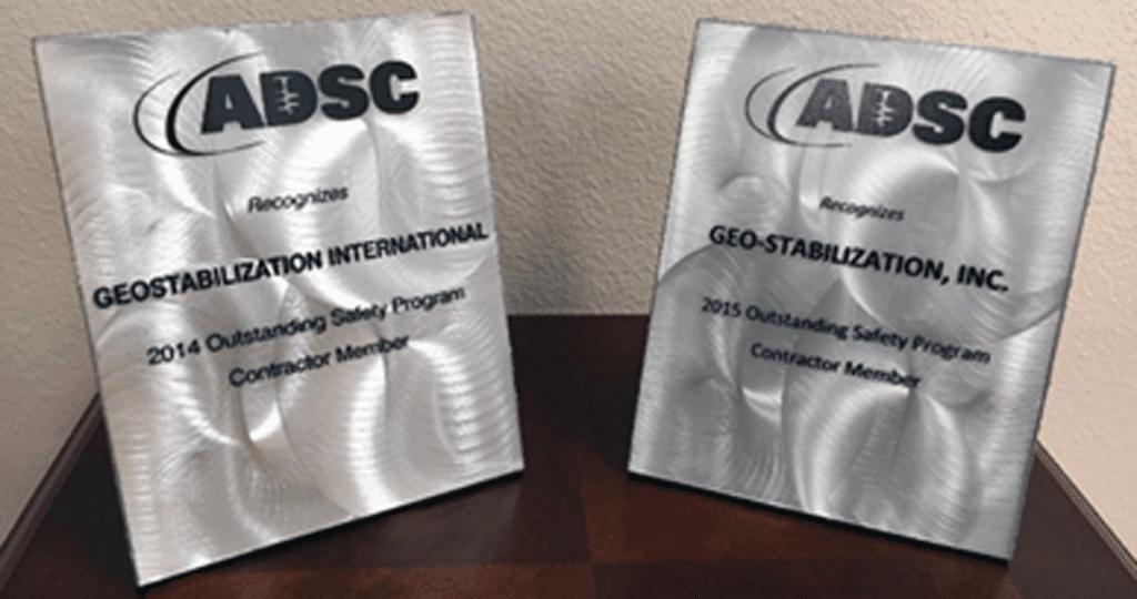 ADSC Outstanding Safety Program Awards, 2014 & 2015
