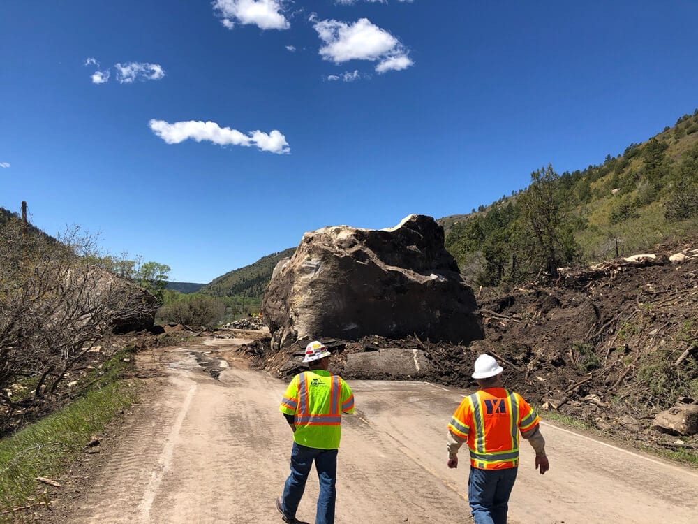 GeoStabilization's Crews Restore Roadway Mobility After Boulders Destroy Hwy 145