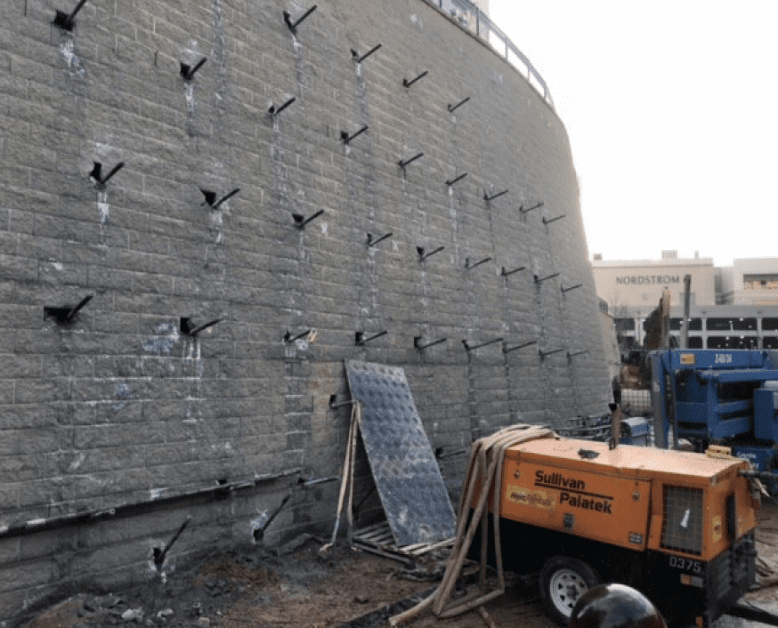 Phipps Tower Plaza MSE Wall Stabilization
